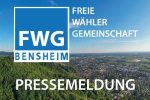 Gemeinsame Pressemitteilung der FWG-Bensheim und der Freien Wähler-Heppenheim
